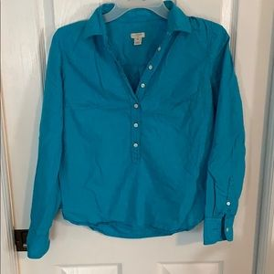 Blue XS jcrew button shirt